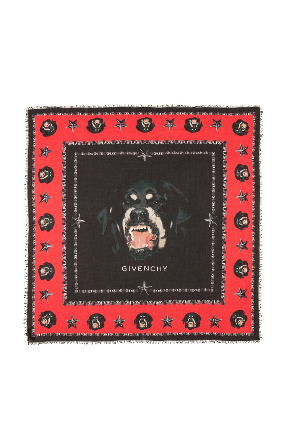 Image 1 of GIVENCHY Rottweiler Scarf in Black & Red