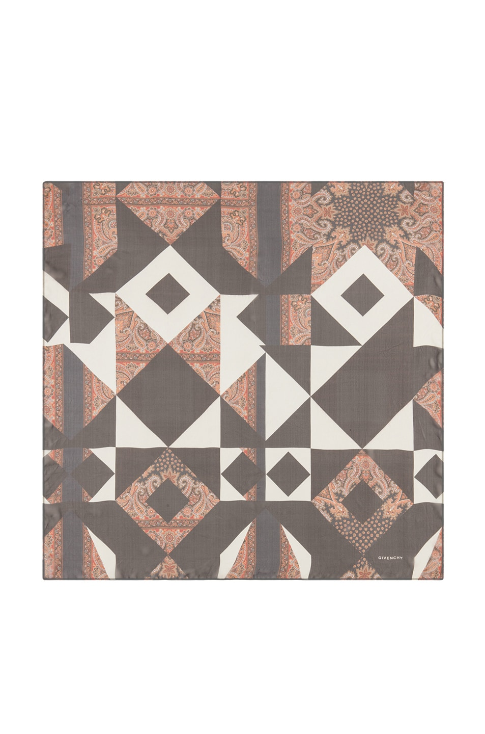 Image 1 of GIVENCHY Patchwork Scarf in Black & White