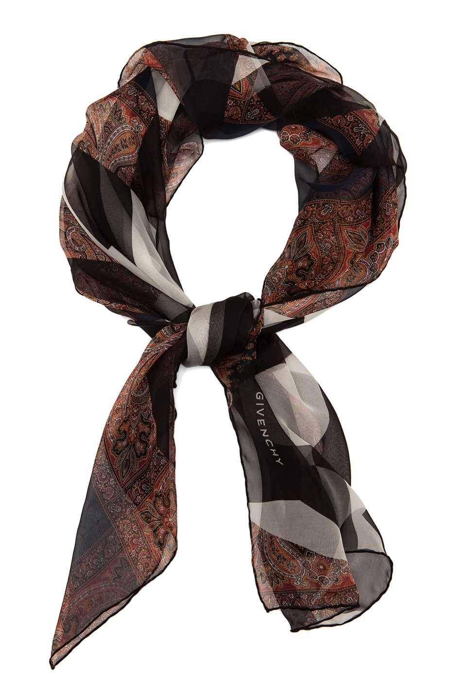 Image 2 of GIVENCHY Patchwork Scarf in Black & White