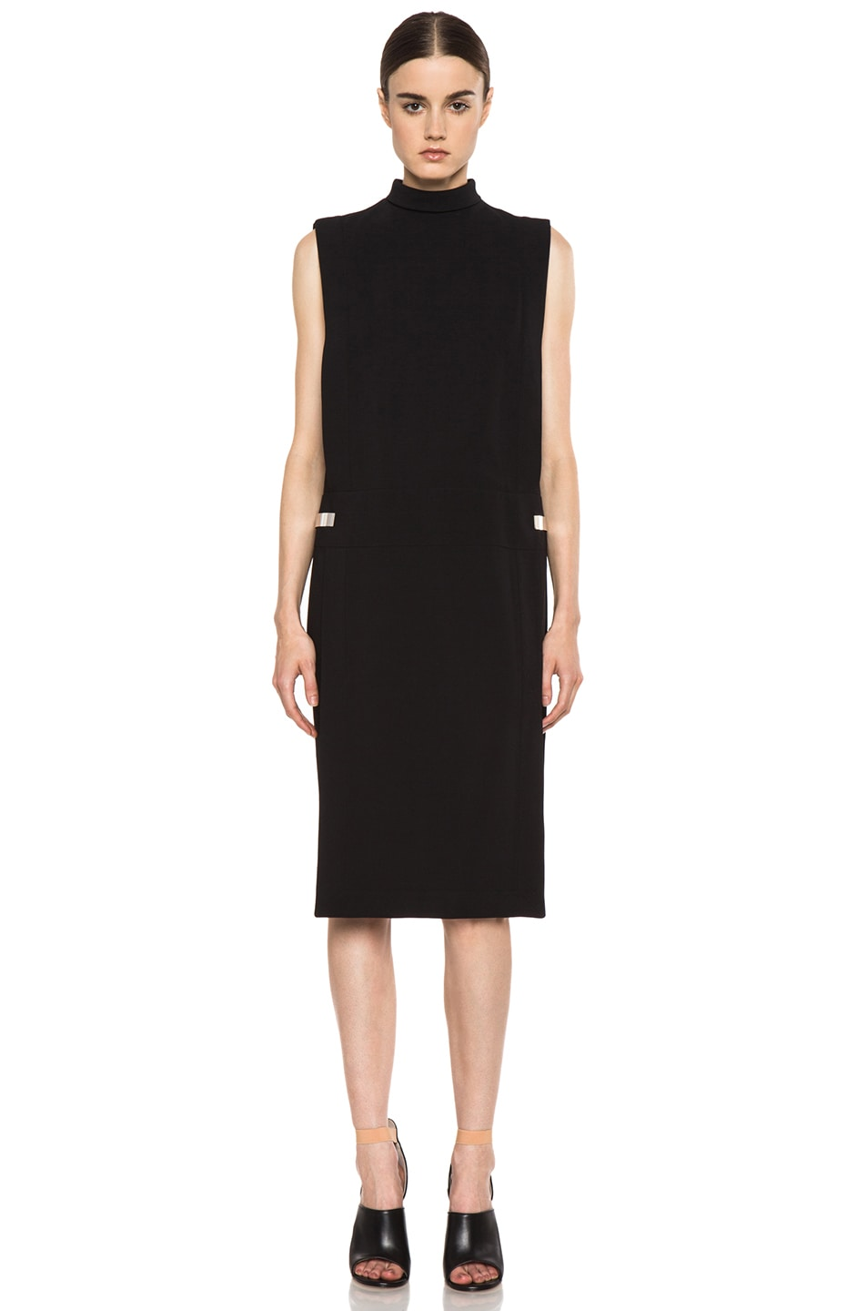 Image 1 of GIVENCHY Metal Side Viscose Silk Dress in Black