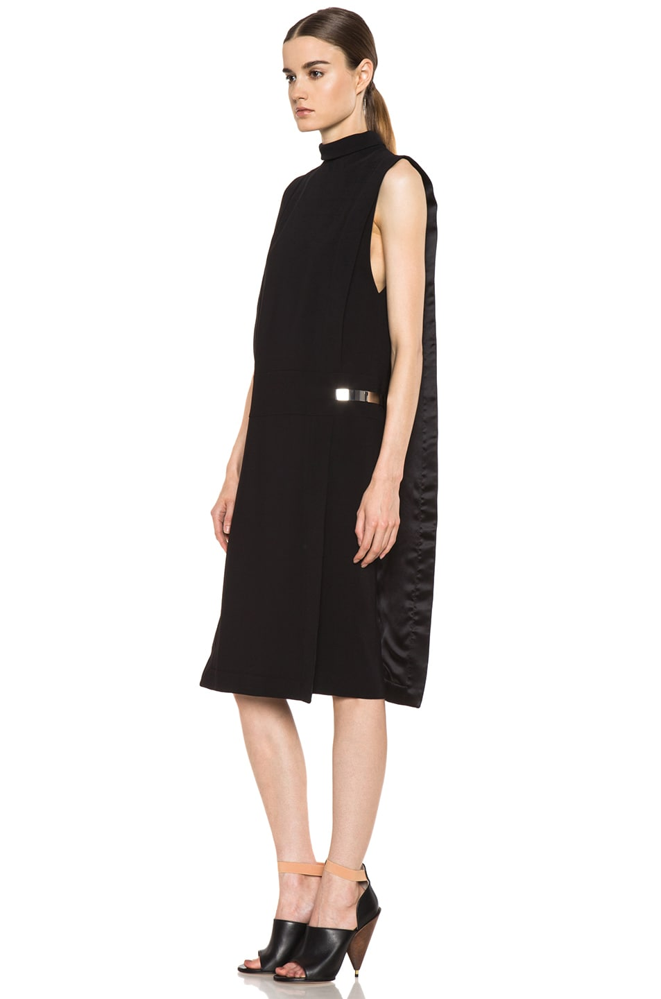 Image 2 of GIVENCHY Metal Side Viscose Silk Dress in Black
