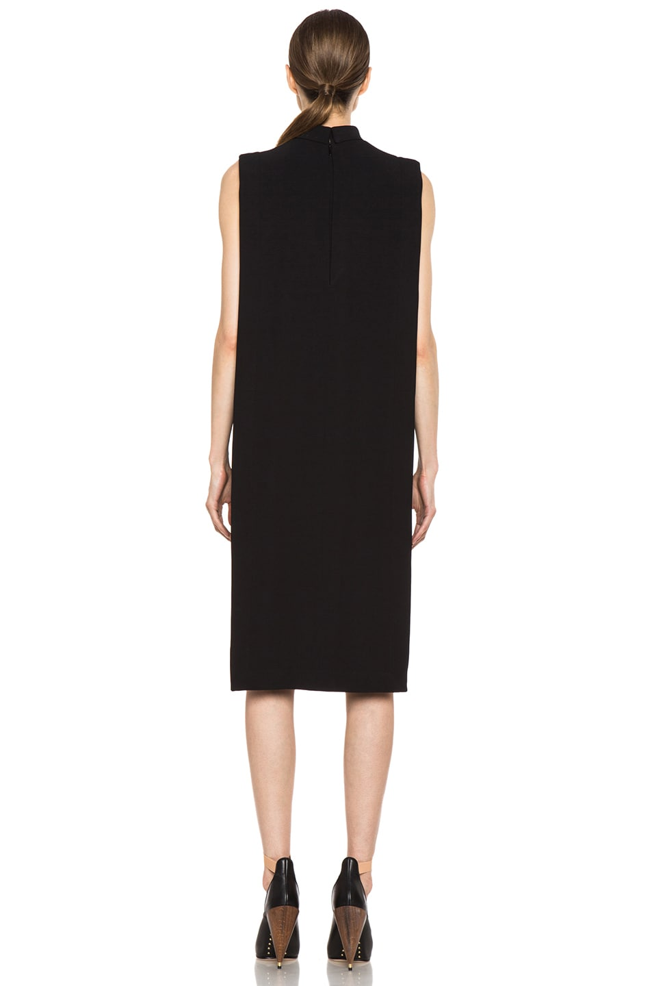 Image 4 of GIVENCHY Metal Side Viscose Silk Dress in Black