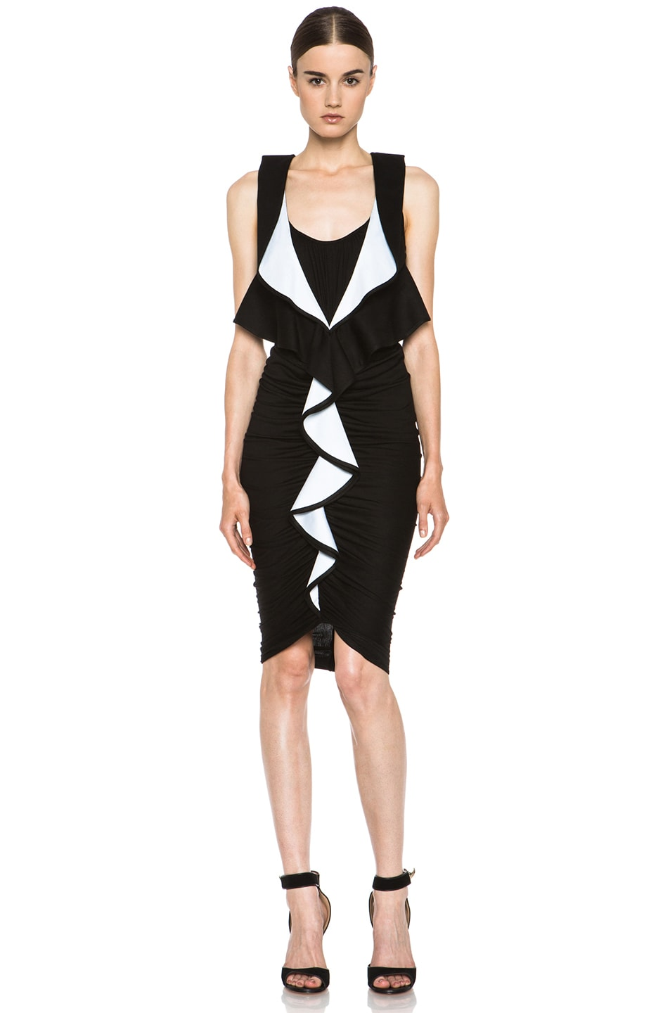 Image 1 of GIVENCHY Ruffle Jersey Dress in Black