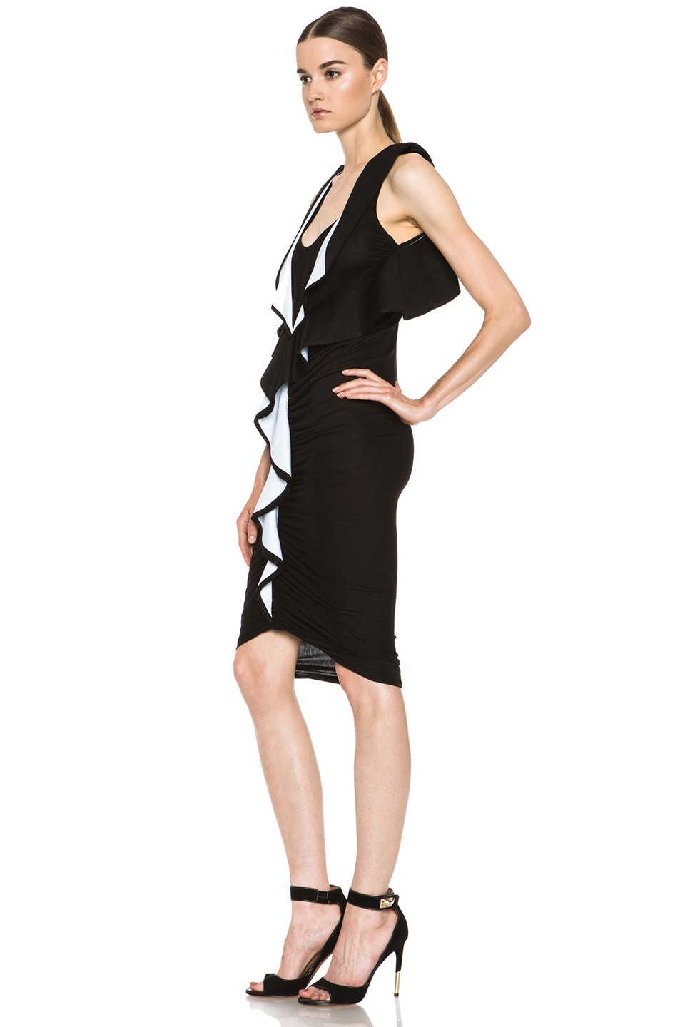 Image 2 of GIVENCHY Ruffle Jersey Dress in Black