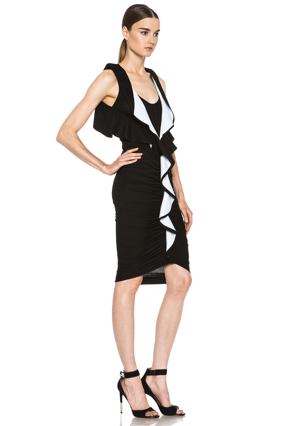 Image 3 of GIVENCHY Ruffle Jersey Dress in Black