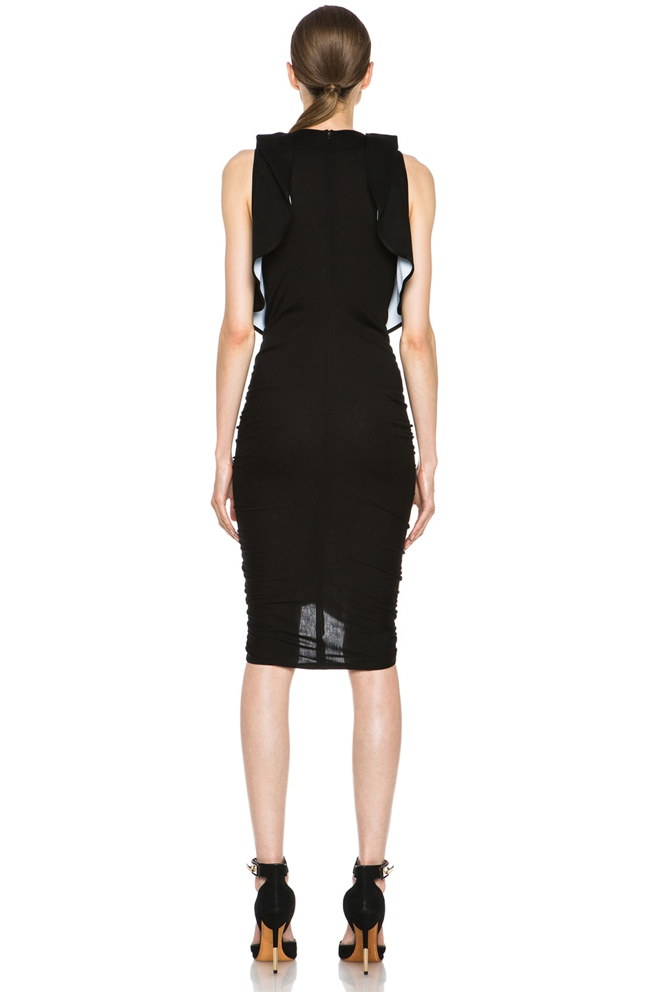 Image 4 of GIVENCHY Ruffle Jersey Dress in Black