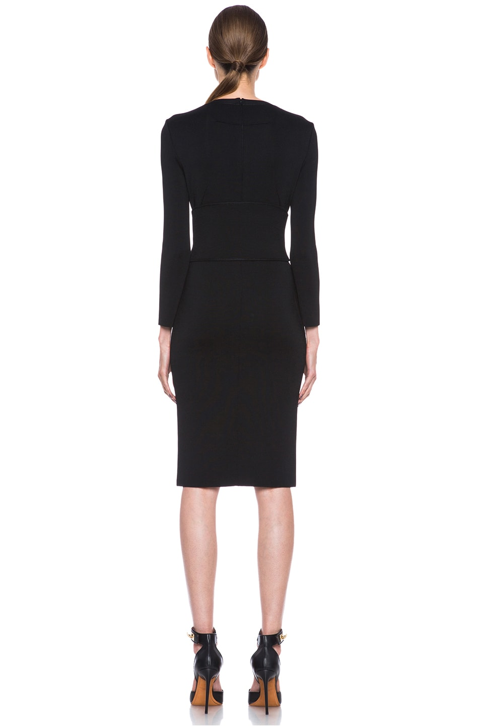 Image 4 of GIVENCHY Structured Jersey Fitted Dress with Corset Belt in Black