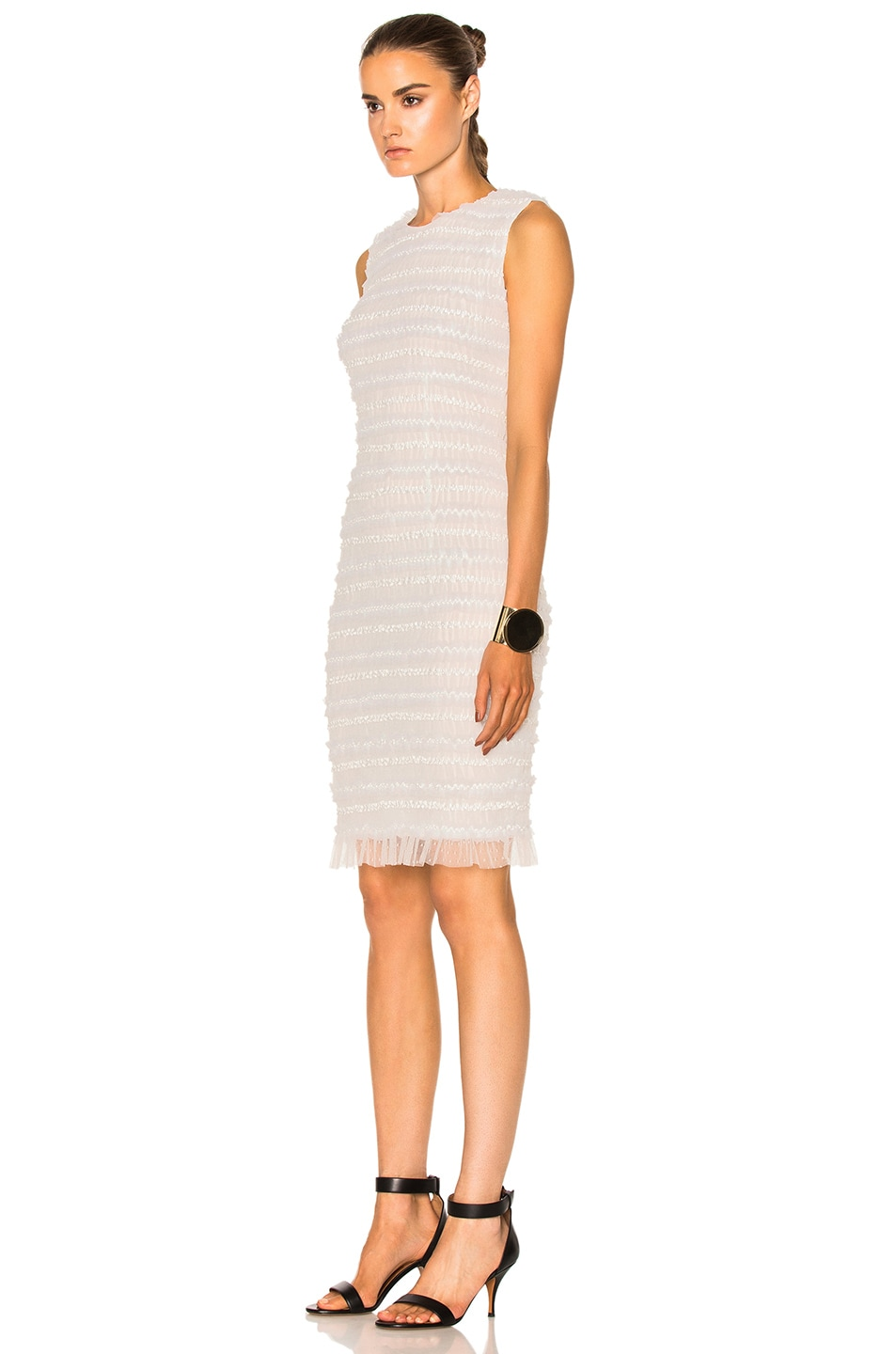 Image 2 of Givenchy Sleeveless Tulle Dress in White