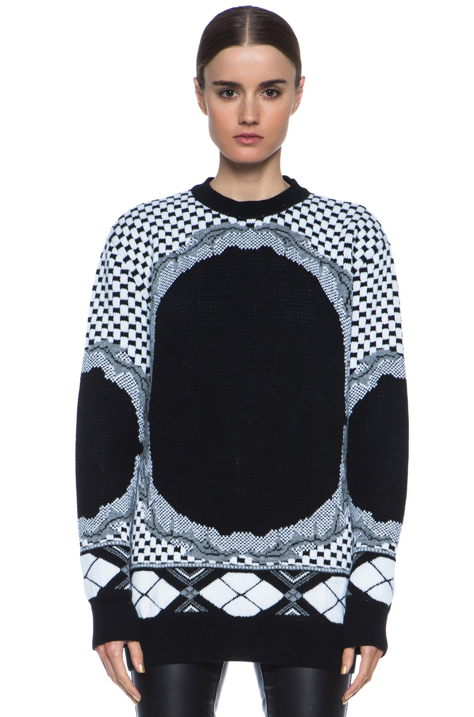 Image 1 of GIVENCHY Printed Cashmere-Blend Sweater in Multi