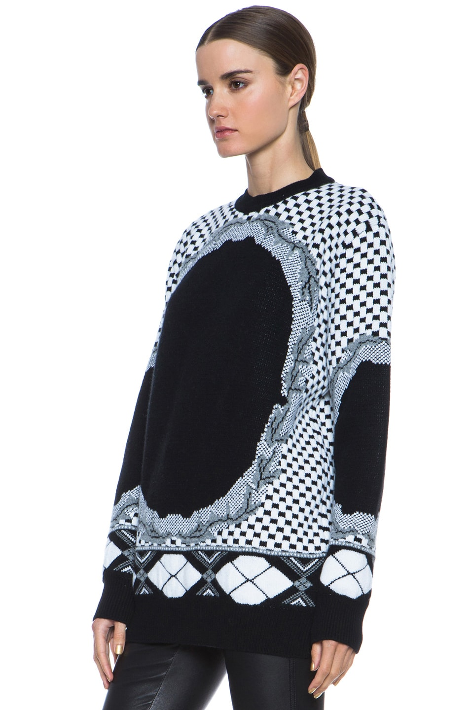 Image 2 of GIVENCHY Printed Cashmere-Blend Sweater in Multi