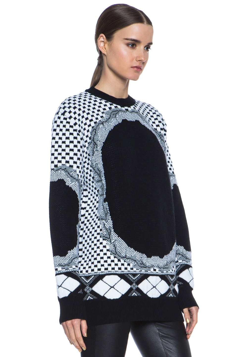 Image 3 of GIVENCHY Printed Cashmere-Blend Sweater in Multi
