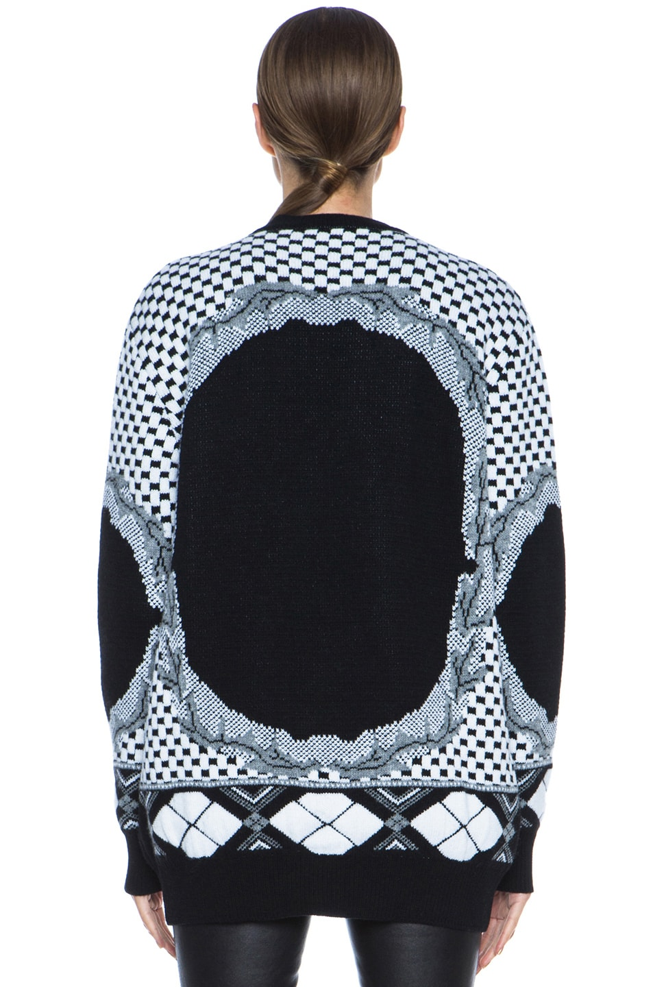 Image 4 of GIVENCHY Printed Cashmere-Blend Sweater in Multi