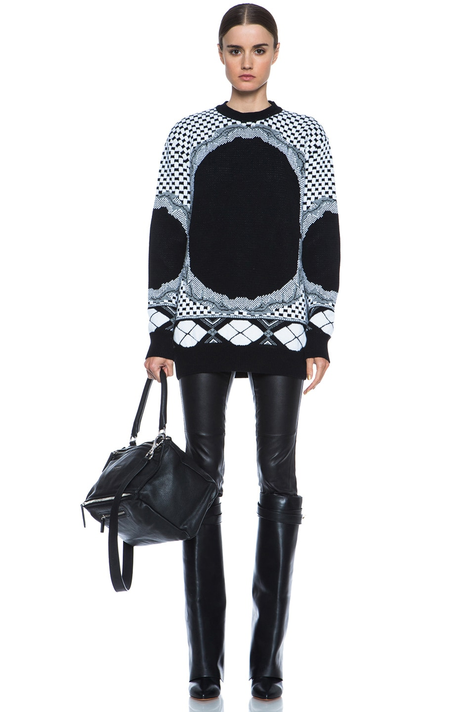 Image 5 of GIVENCHY Printed Cashmere-Blend Sweater in Multi