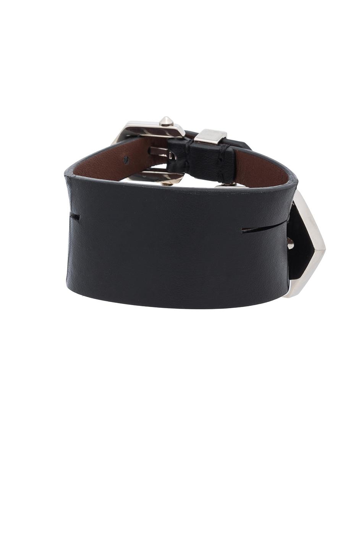 Image 3 of Givenchy Double Belt Bracelet in Black