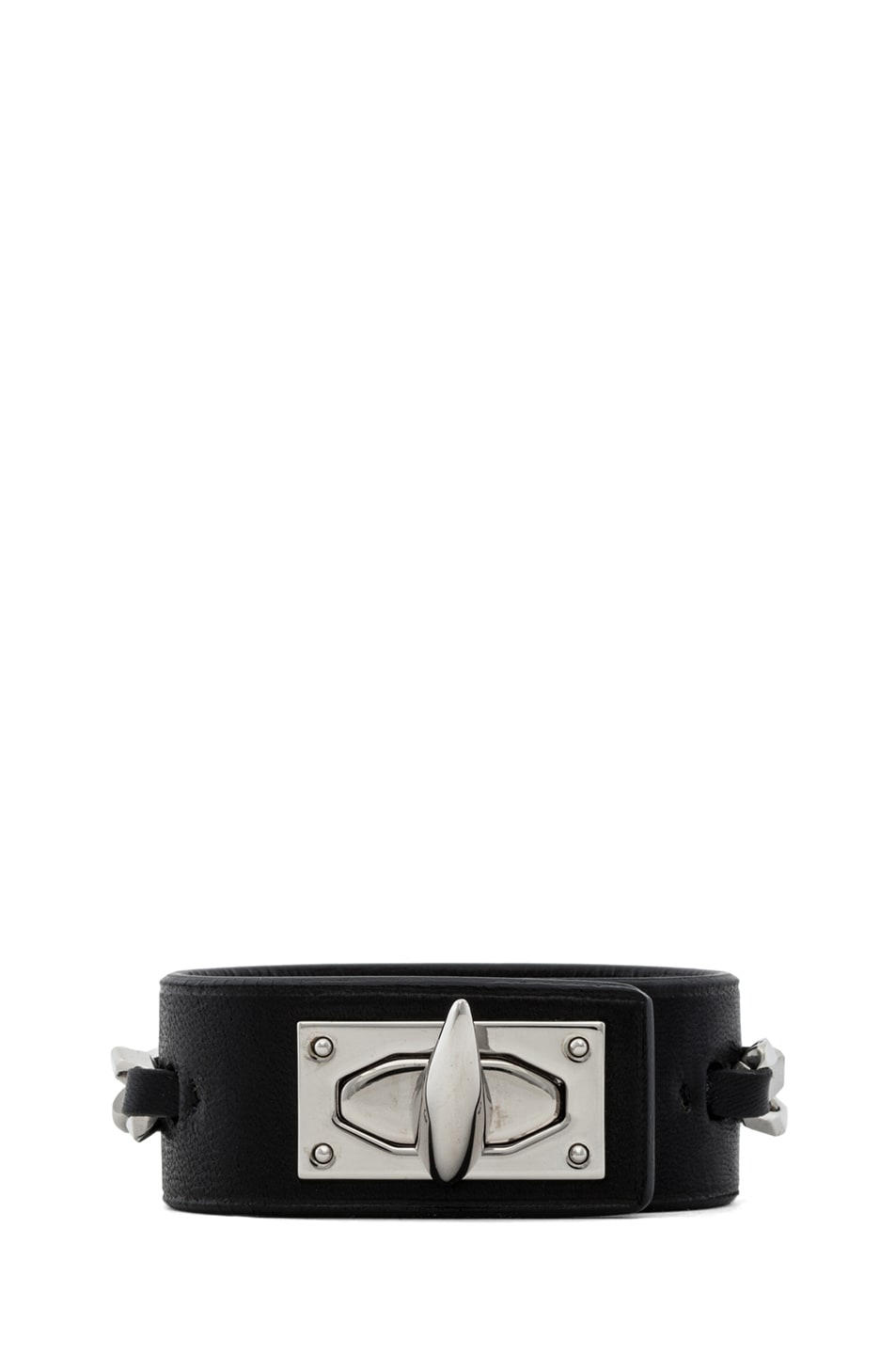 Image 1 of GIVENCHY Shark Lock Chain Bracelet in Black