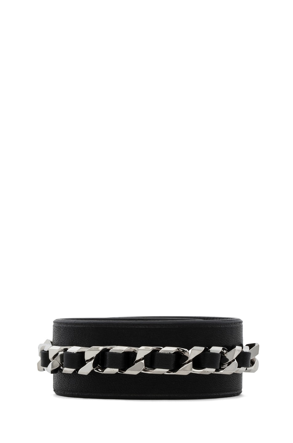 Image 3 of GIVENCHY Shark Lock Chain Bracelet in Black
