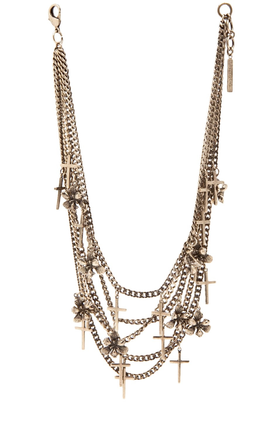 Image 1 of GIVENCHY Necklace w/ Crosses in Brass