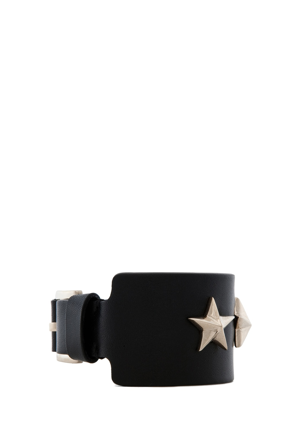 Image 2 of GIVENCHY Small Leather Star Cuff in Black