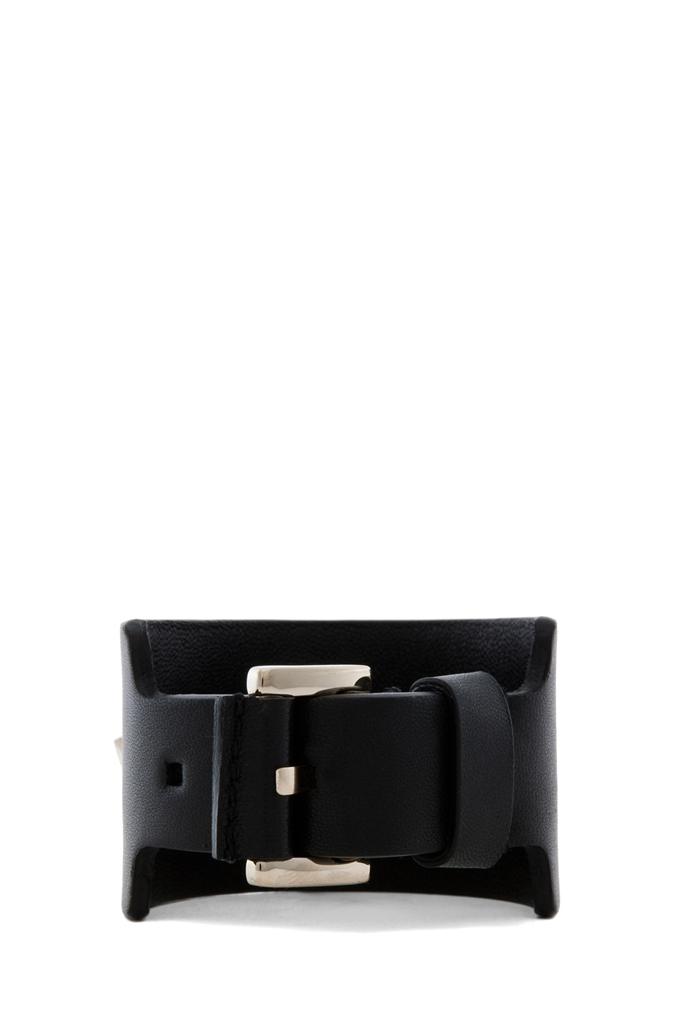 Image 3 of GIVENCHY Small Leather Star Cuff in Black
