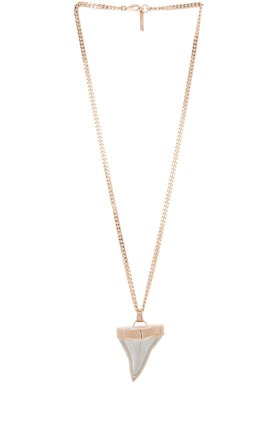 Image 1 of GIVENCHY Shark Tooth Shiny Brass Necklace in Rose Gold