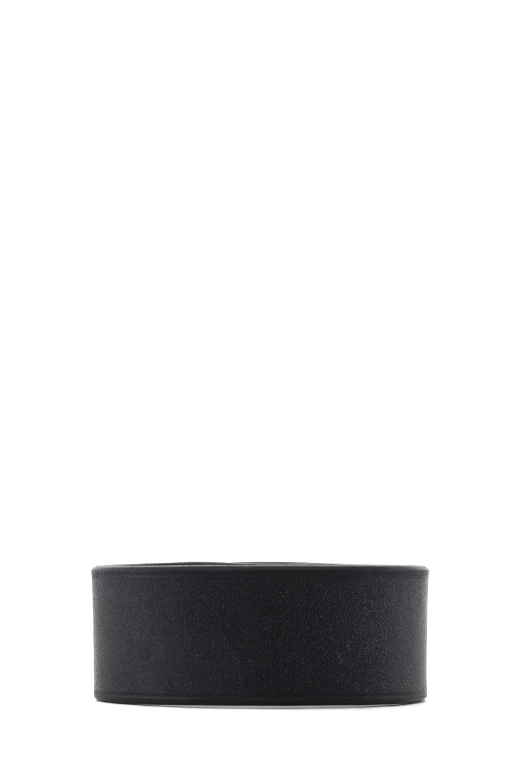 Image 3 of GIVENCHY Shark Lock Bracelet in Black Leather & Wood