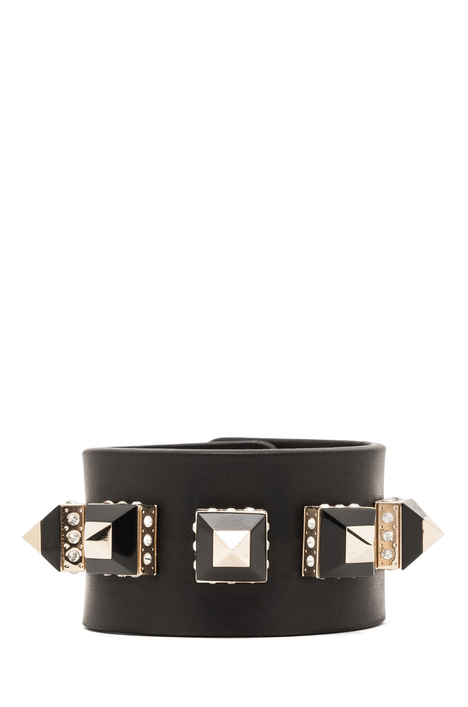 Image 1 of GIVENCHY Bracelet with Pyramid Studs in Black