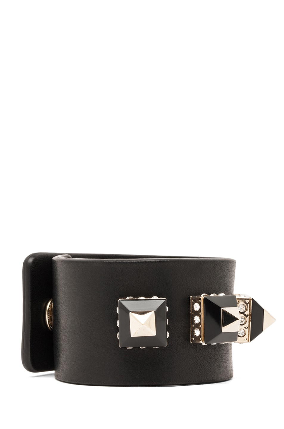 Image 2 of GIVENCHY Bracelet with Pyramid Studs in Black