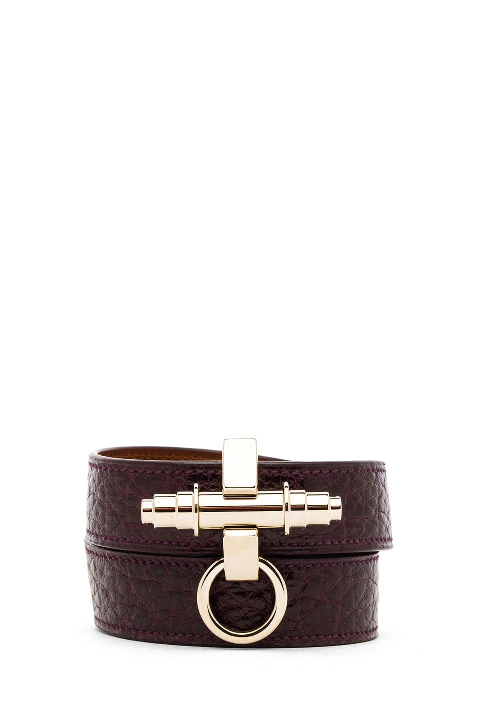 Image 1 of GIVENCHY Triple Obsedia Calfskin Bracelet in Aubergine