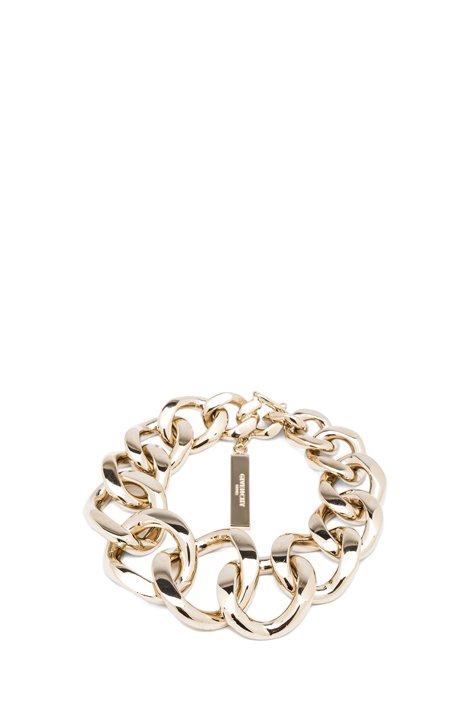 Image 1 of GIVENCHY Asymmetrical Brass Chain Bracelet in Pale Gold