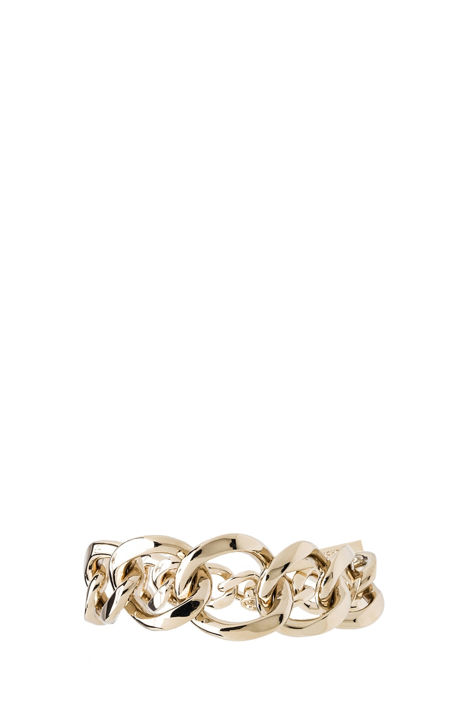 Image 2 of GIVENCHY Asymmetrical Brass Chain Bracelet in Pale Gold