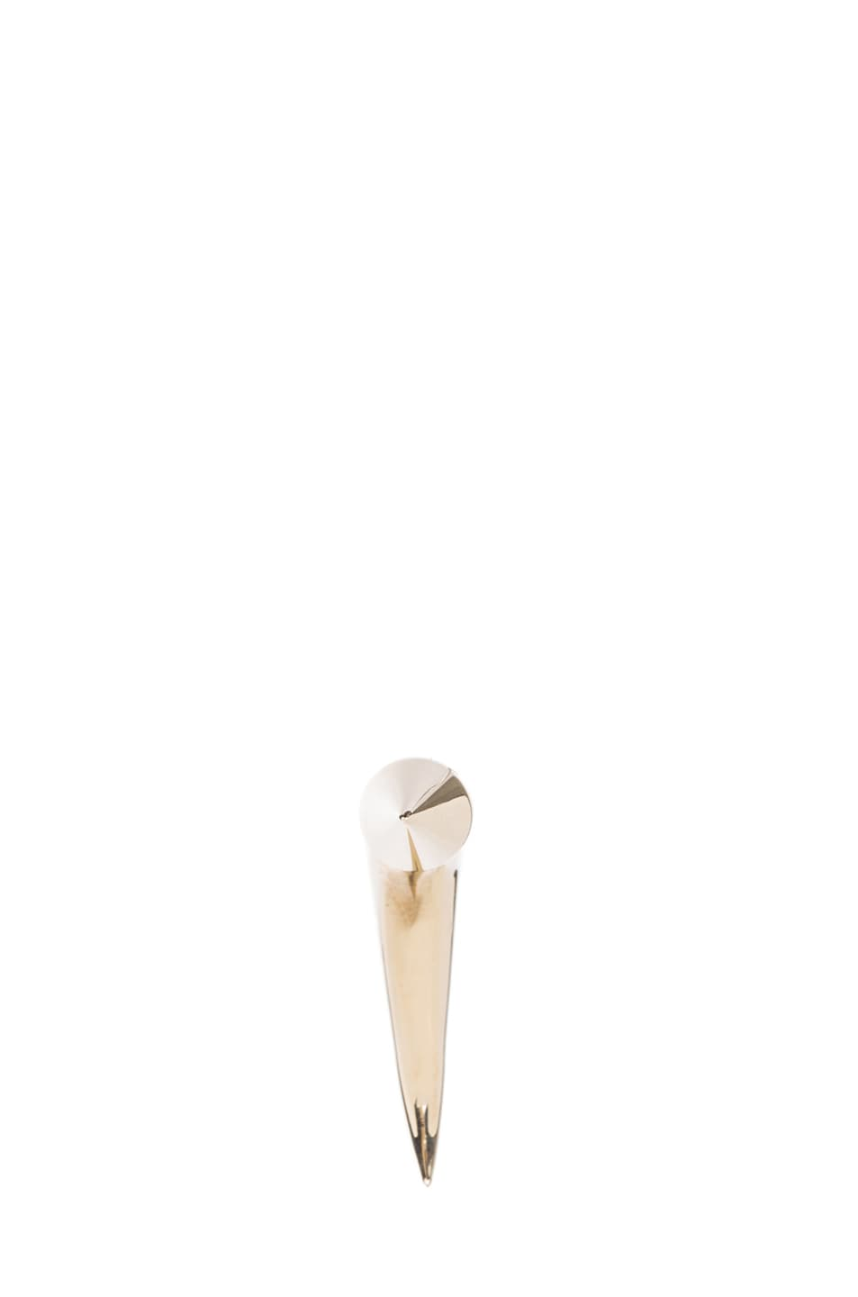Image 3 of GIVENCHY Cone Shark Tooth Earring in Pale Gold