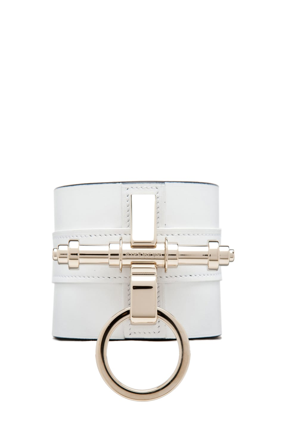 Image 1 of GIVENCHY Obsedia Large Cuff in White/Black