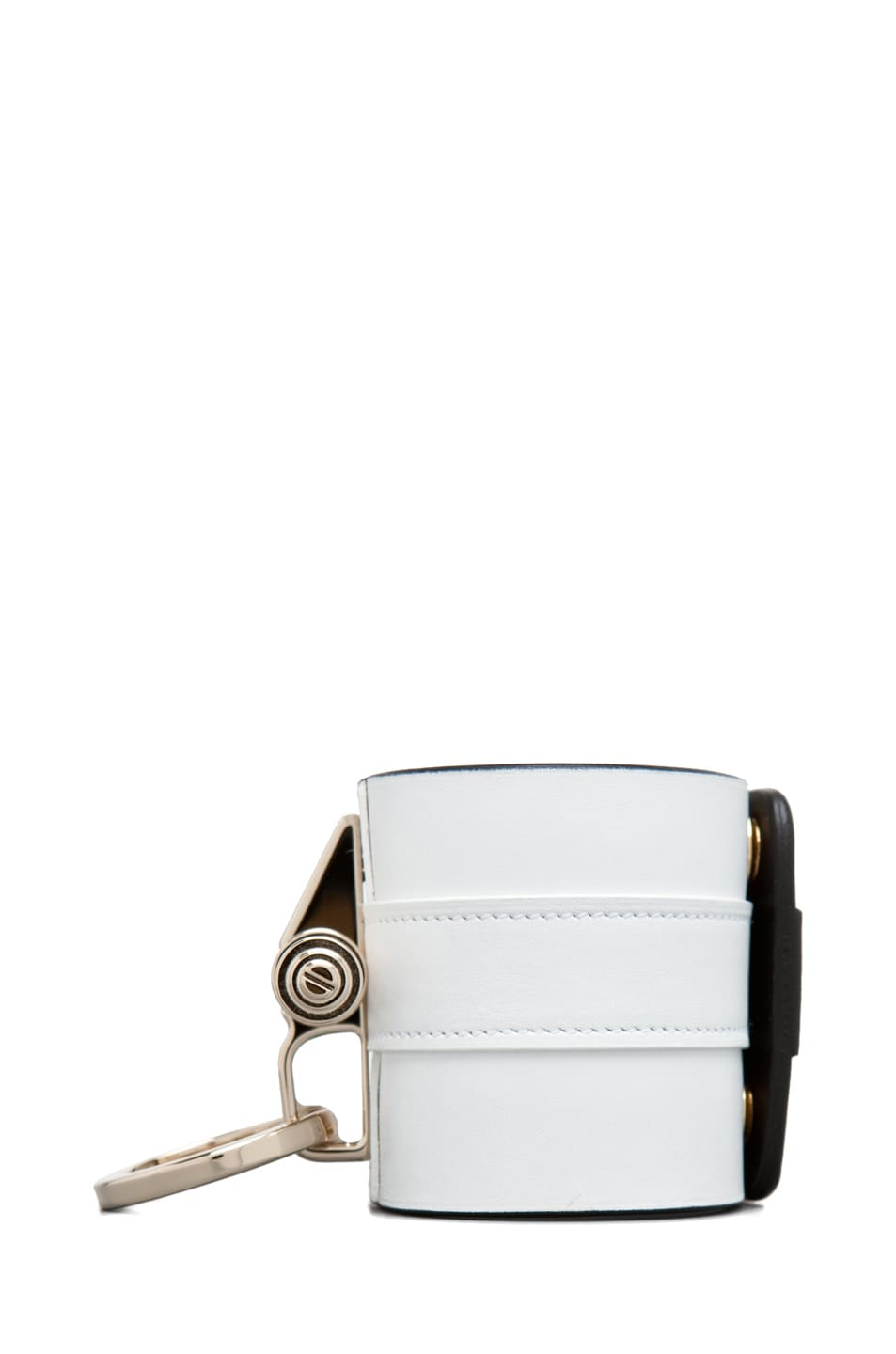 Image 2 of GIVENCHY Obsedia Large Cuff in White/Black