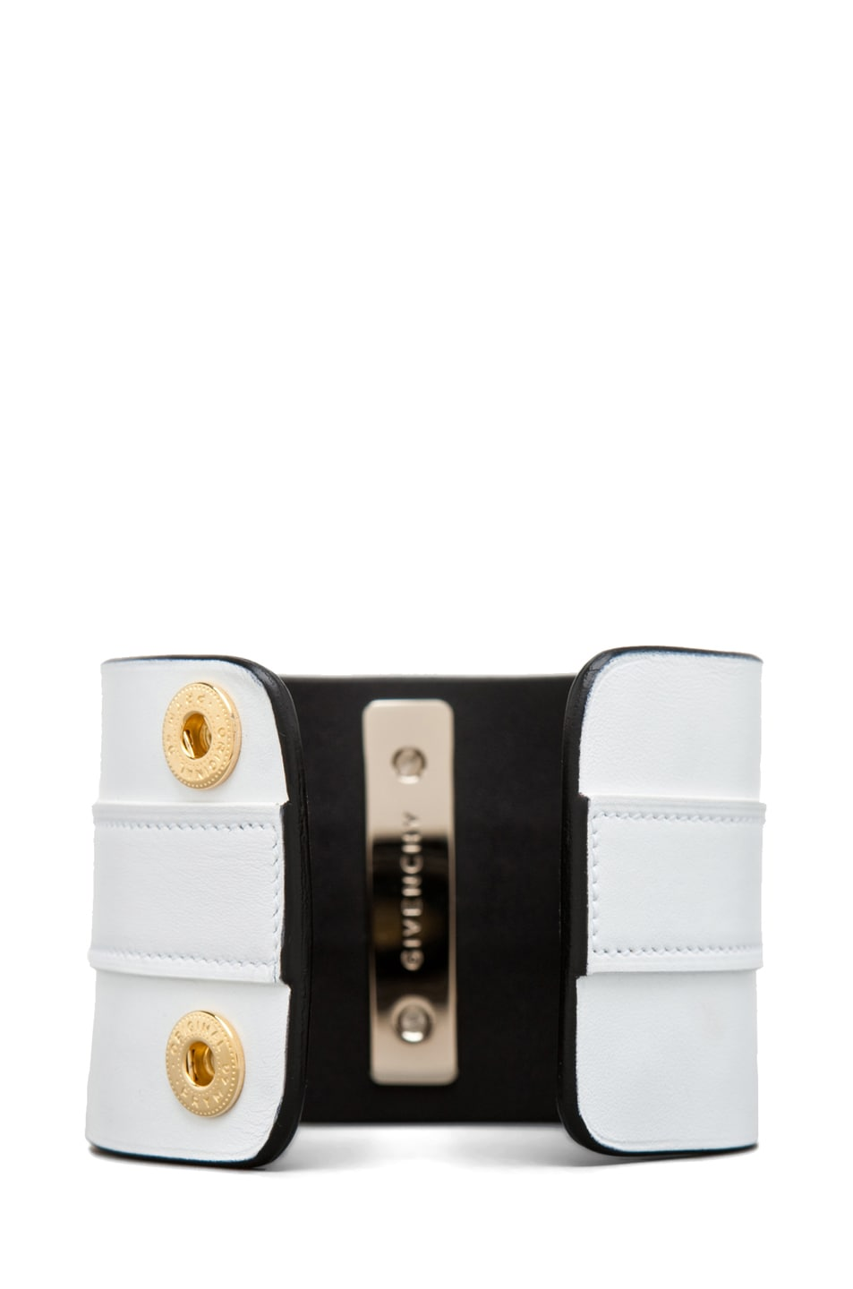 Image 4 of GIVENCHY Obsedia Large Cuff in White/Black