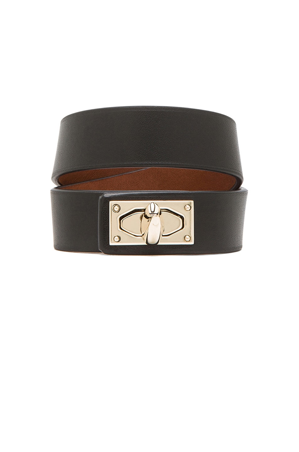 Image 1 of GIVENCHY Double Loop Shark Tooth Bracelet in Black