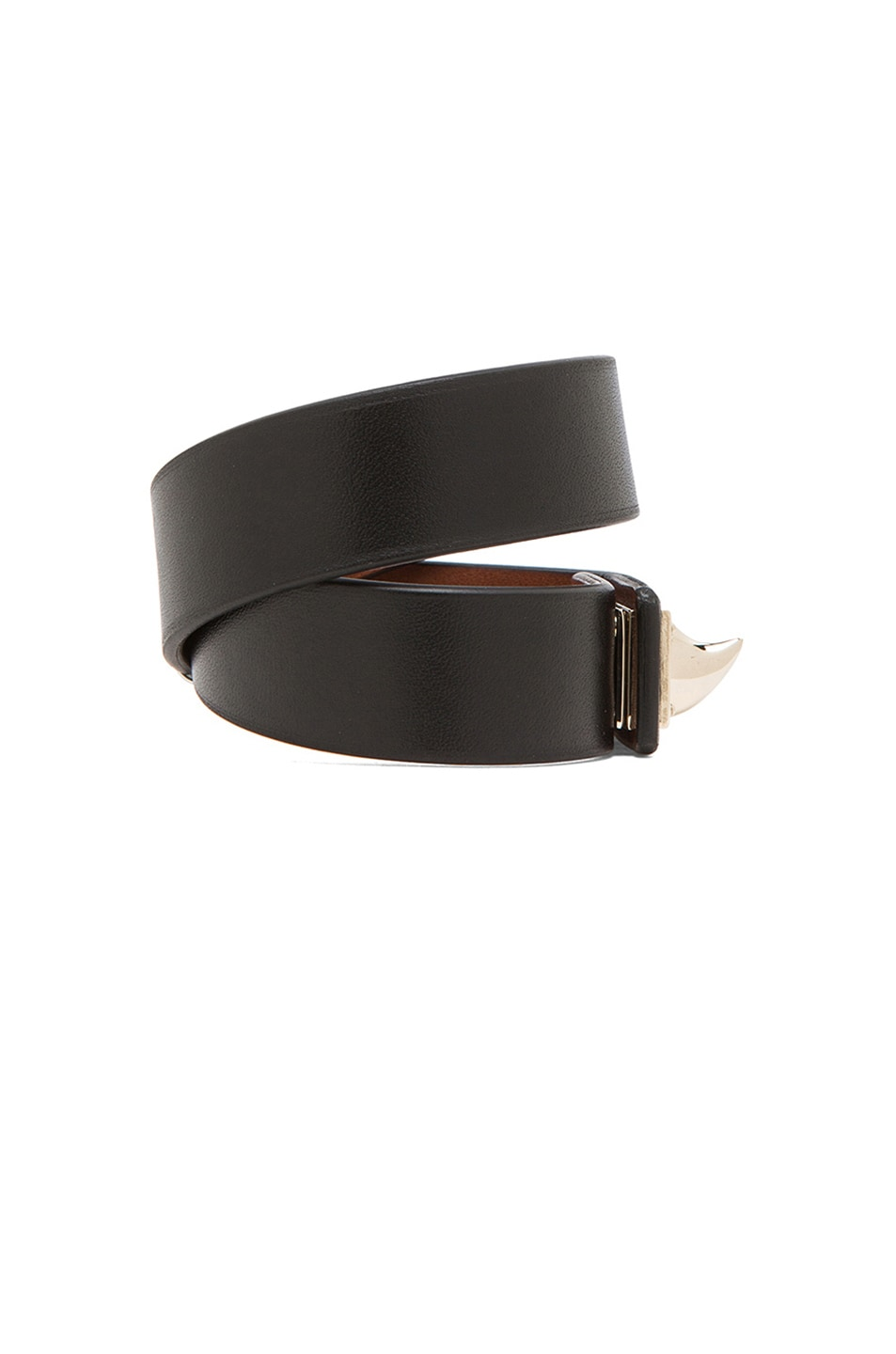 Image 2 of GIVENCHY Double Loop Shark Tooth Bracelet in Black