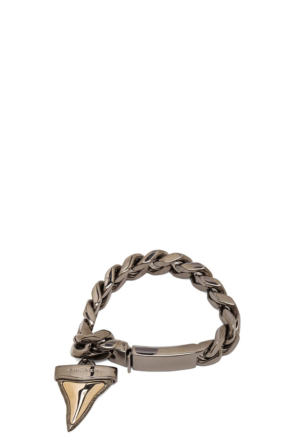 Image 1 of GIVENCHY Metal Shark Tooth Bracelet in Silver & Gold