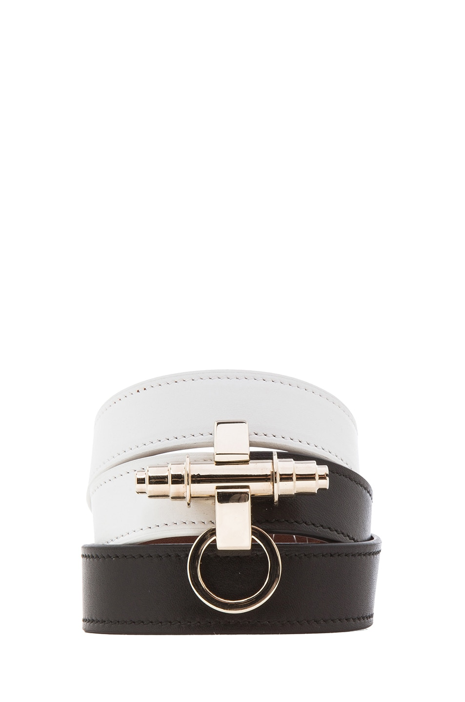 Image 1 of GIVENCHY 3 Row Obsedia Bracelet in Black & White