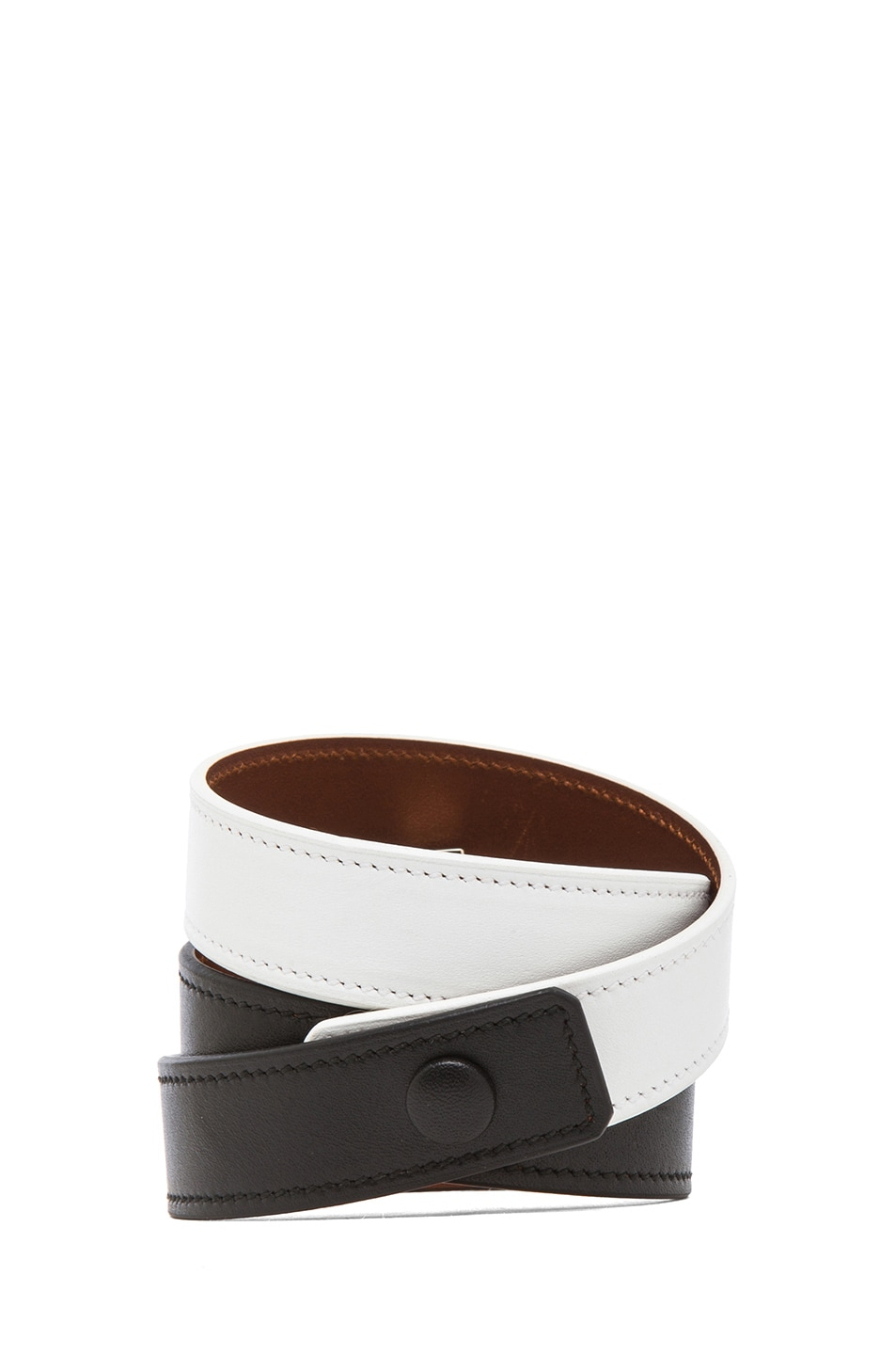 Image 3 of GIVENCHY 3 Row Obsedia Bracelet in Black & White