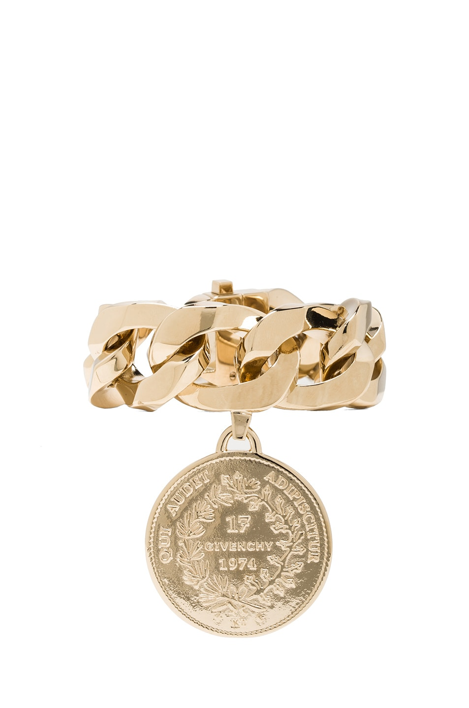 Image 1 of GIVENCHY Small Medallion Bracelet in Gold