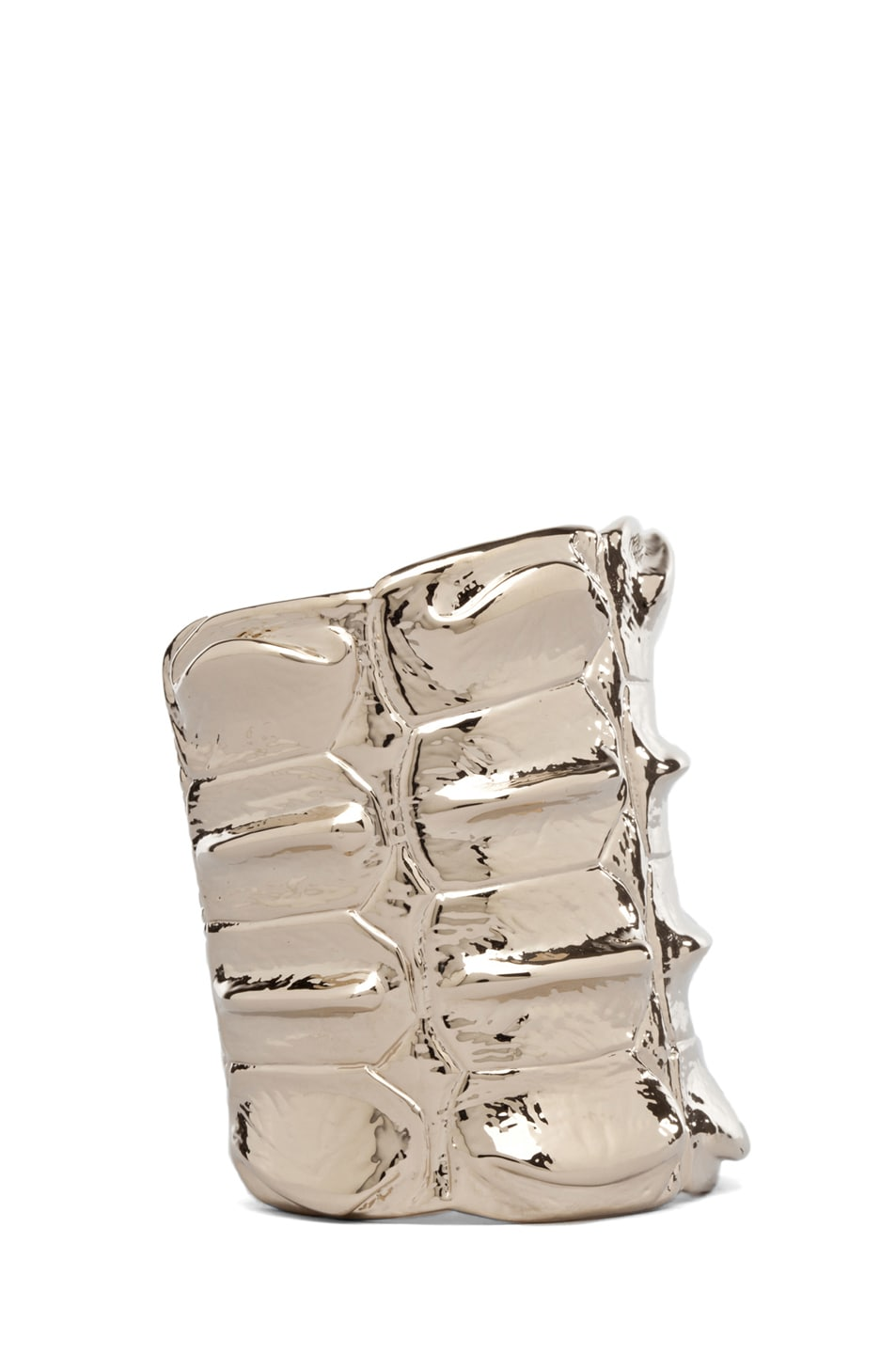 Image 2 of GIVENCHY Croc Metal Cuff in Pale Gold
