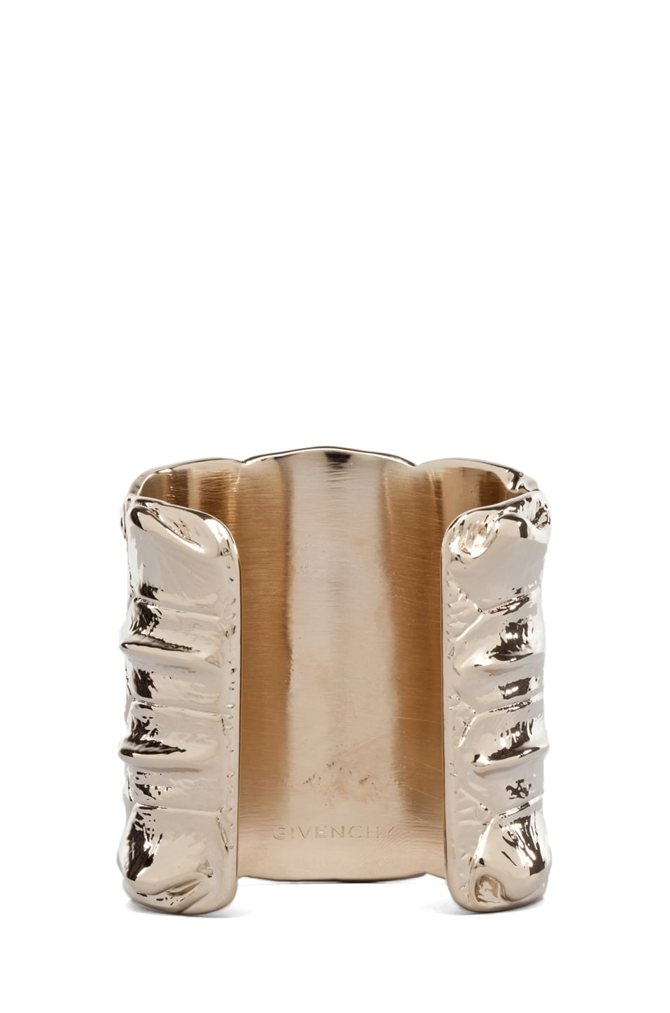 Image 3 of GIVENCHY Croc Metal Cuff in Pale Gold