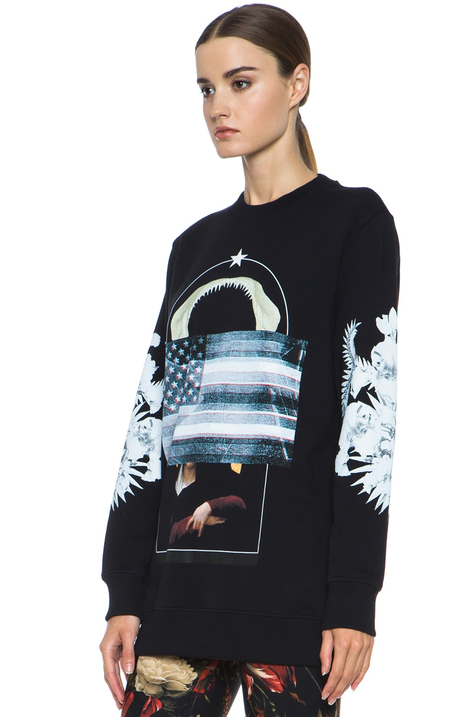 Image 2 of GIVENCHY Flag and Jaws Sweatshirt in Black