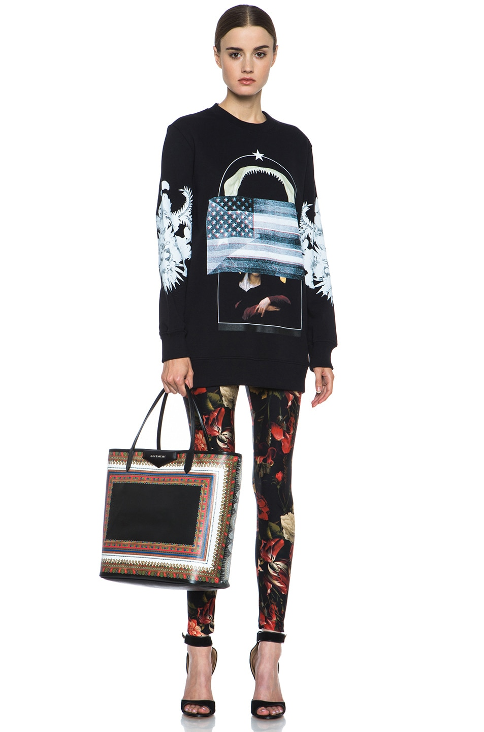 Image 5 of GIVENCHY Flag and Jaws Sweatshirt in Black