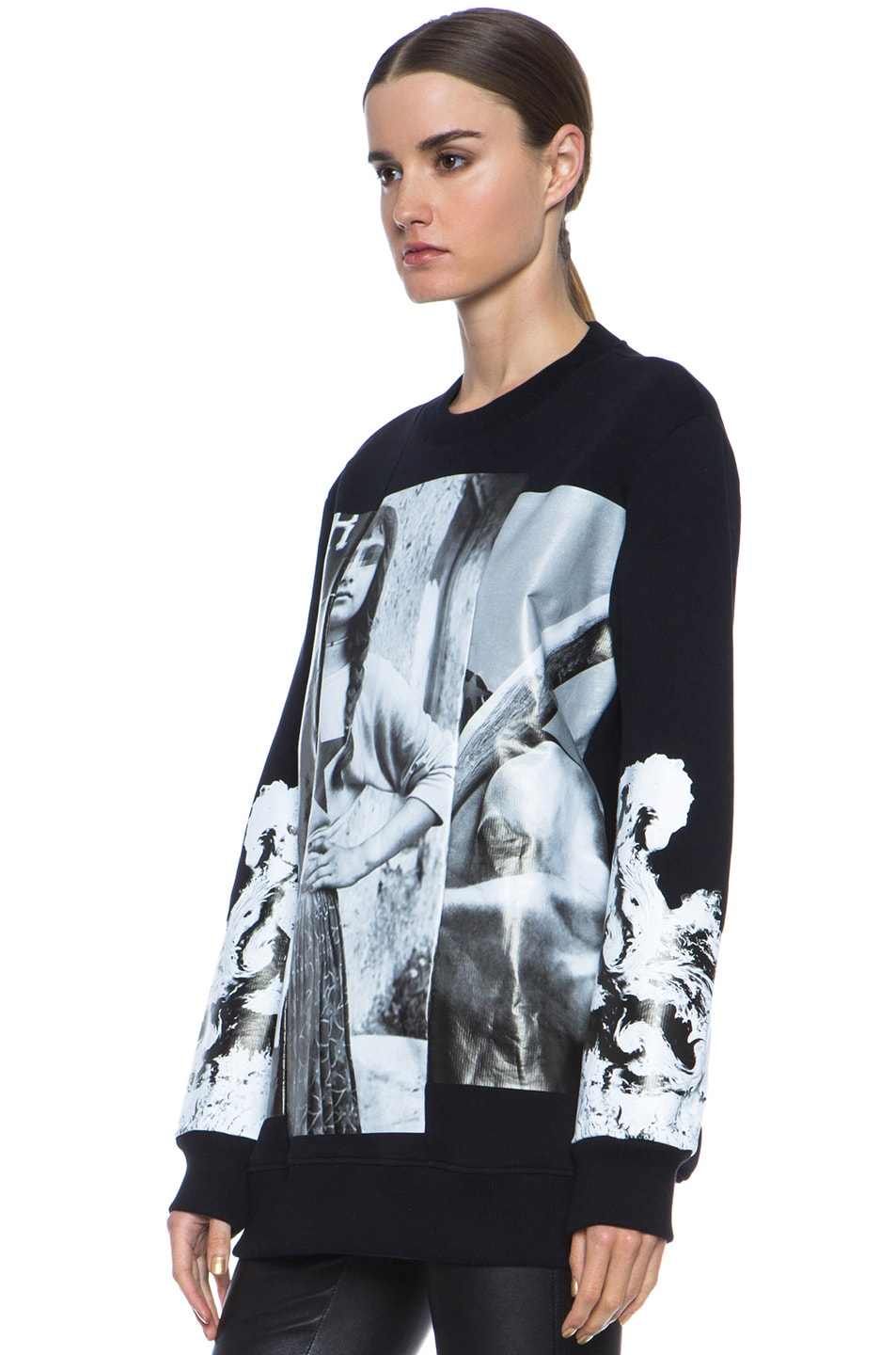 Image 2 of GIVENCHY Multiprint Sweatshirt in Black & White