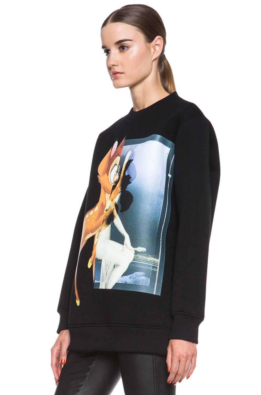 Image 2 of GIVENCHY Bambi Print Viscose Sweatshirt in Black