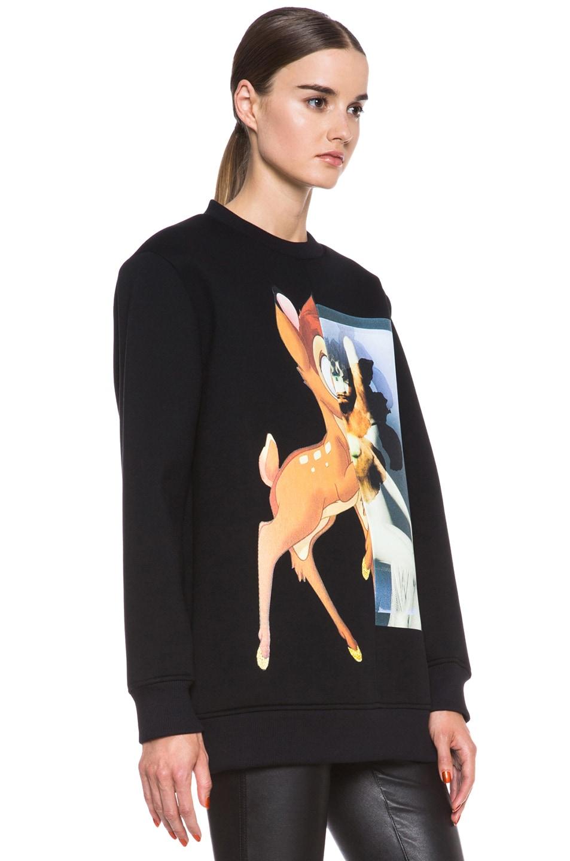 Image 3 of GIVENCHY Bambi Print Viscose Sweatshirt in Black