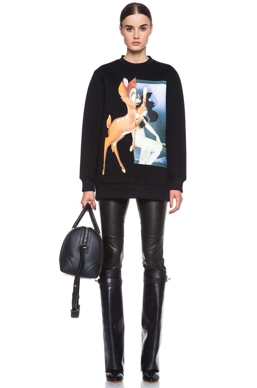 Image 5 of GIVENCHY Bambi Print Viscose Sweatshirt in Black