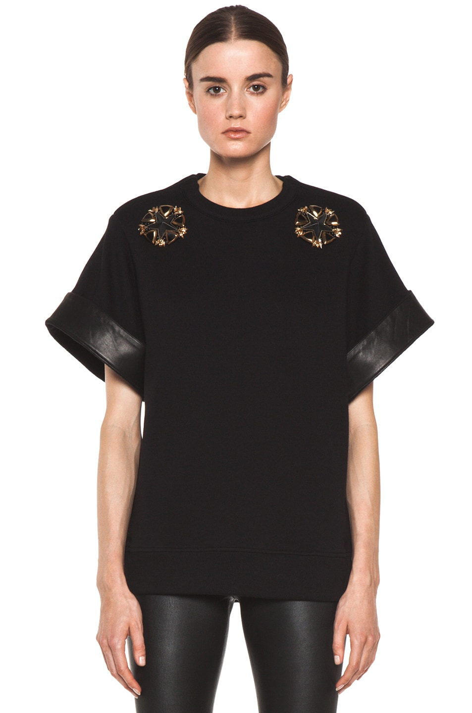 Image 1 of GIVENCHY Star Sweatshirt in Black