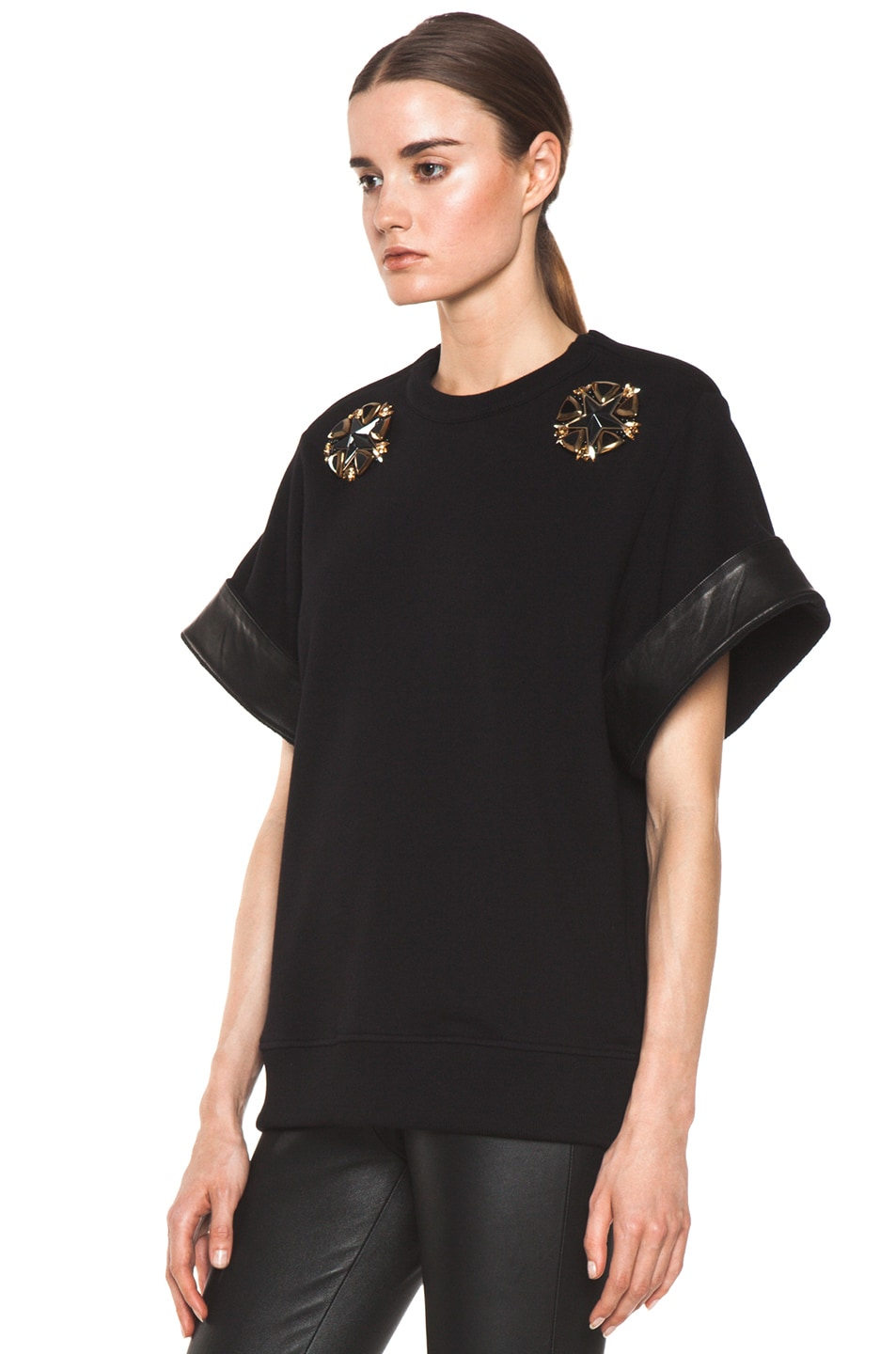 Image 2 of GIVENCHY Star Sweatshirt in Black